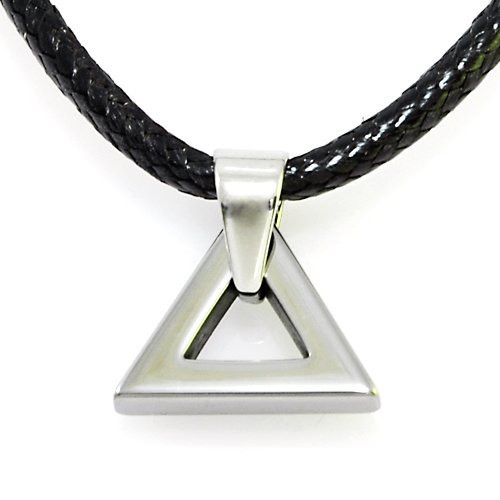 Tungsten Carbide Triangle High Polish Pendant Necklace New
