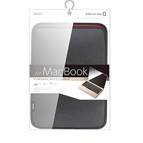 MacBook 12インチ用 スリップインケース ブラック SZC-MB2103BK