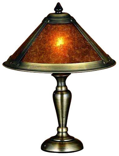 """Meyda Lighting 23028 17""""H Van Erp Amber Mica Accent Lamp"""