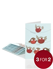 8 Fun Robins Luxury Christmas Cards