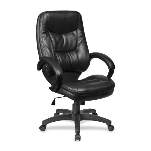 Lorell High-Back Executive Chair, 26-1/2 by 28-1/2 by 46-1/2-Inch, Black