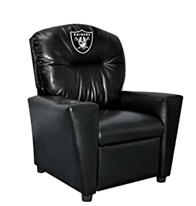 Buy NFL Oakland Raiders Kid's Faux Leather Recliner by Imperial