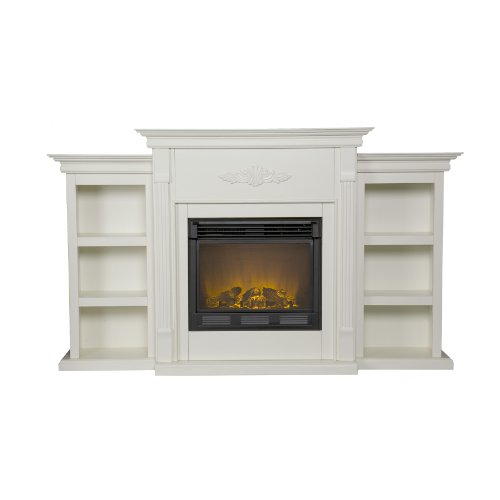 Why Should You Buy SEI Tennyson Electric Fireplace with Bookcases, Ivory