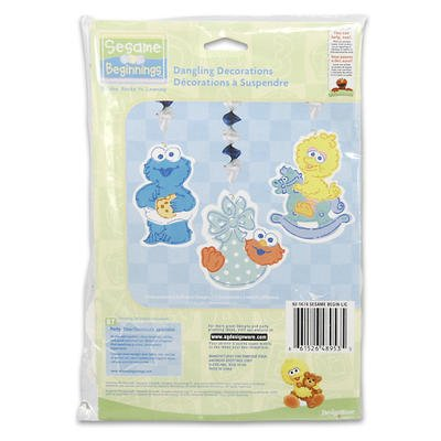 Sesame Street Beginnings Dangling Decorations - 3 Count