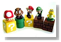 New Super Mario Bros mini figures bundle (a set of Five ~1