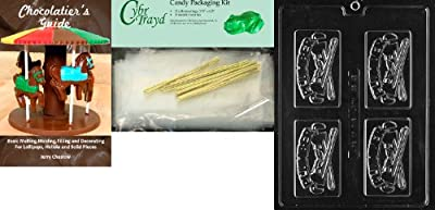Cybrtrayd Plumber Business Card Business Card Chocolate Candy Mold with Chocolatier's Bundle, Includes 25 Cello Bags and 25 Gold Twist Ties