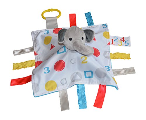 Baby Jack Blankets Baby Jack Blankets ABC Sensory Educational Elephant Tag Blanket - 1