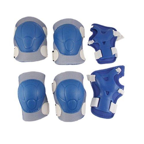 SODIALR-Protecteur-de-patinage-Pour-les-enfants-coude-genou-poignet-Bleu-et-Blanc