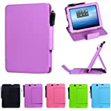 i-UniK E FUN 2013 Nextbook Premium 8HD Multi-Angle Slim Protection Case / Cover Dual Core with Google Play [NOT FIT 2014 Nextbook 7.85 / Nextbook 8] - (Violet Purple)