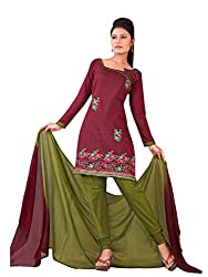 Urban Vastra Maroon Embroidery Dress Material ( 19002A )