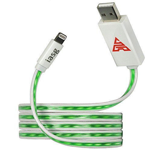iasg-apple-certified-flat-visible-led-lighted-up-lightning-to-usb-cable-33-feet1-meter-green-light