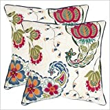 Safavieh Pillows Collection Melissa Decorative Pillow, 22-Inch, Multicolored, Set of 2