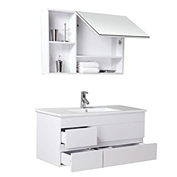 Appenzell in White Bathroom Furniture Bathroom Set with Cupboard
