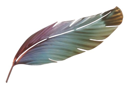 Next Innovations Feather Muted Color Refraxions 3D Wall Art, 15 by 8.5-Inch