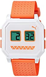 Puma PU910951015 Wrist Robots White Orange Digital Watch
