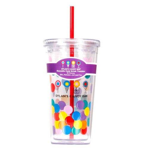 Dylan's Candy Bar Tumbler with Straw - Gumballs
