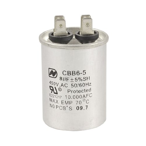 AC 450V 8uF Air Conditioner Motor Run Capacitor CBB65
