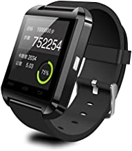 CIYOYO 2015New Bluetooth Smart Watch Wrist Wrap Watch Phone for IOS Apple iphone 4/4S/5/5C/5S Android Samsung S2/S3/S4/S5/Note 2/Note 3 HTC (BLACK)