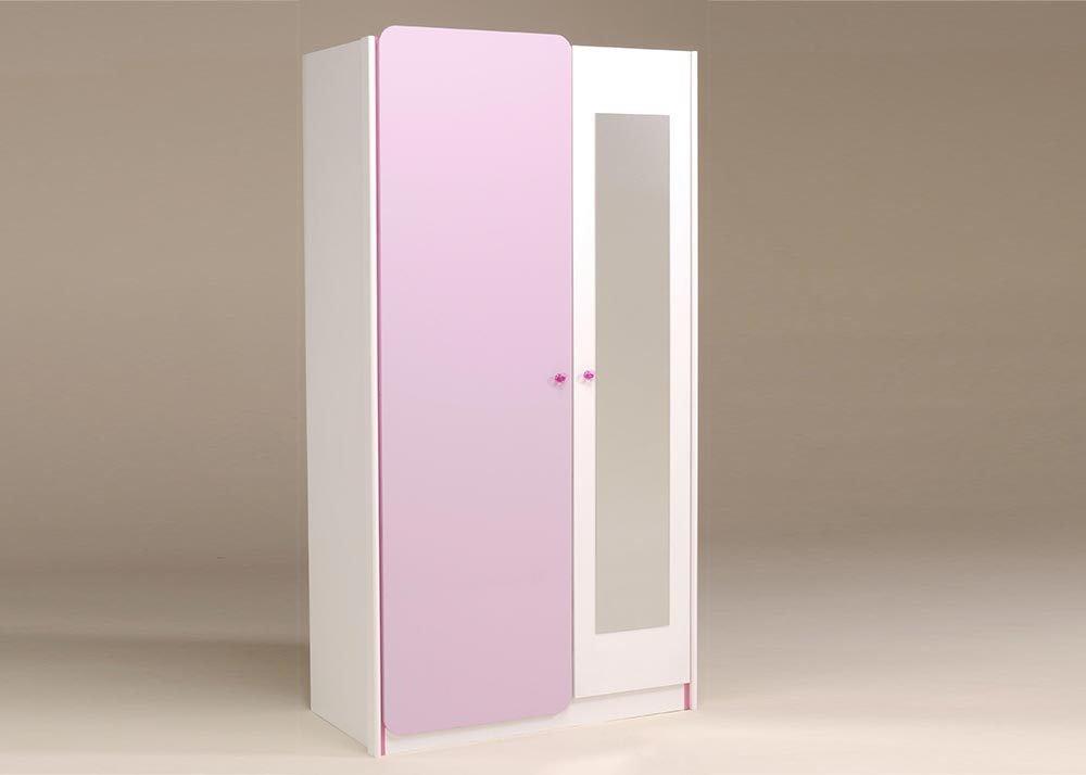 Jumbo-Möbel Kleiderschrank YASMIN in Weiß & Lila – B: 104 cm günstig