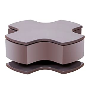 Optima Taupe High Gloss Motion Coffee Table Kitchen Home