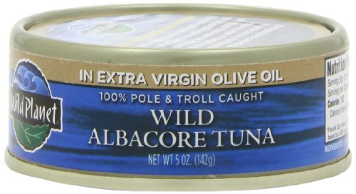 Wild Planet Wild Albacore Tuna In Extra Virgin Olive Oil, 5-Ounce Cans (Pack Of 6)
