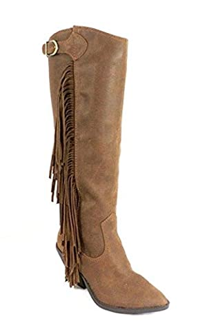 Carlos By Carlos Santana Lever Fringe Boots Brown 6M