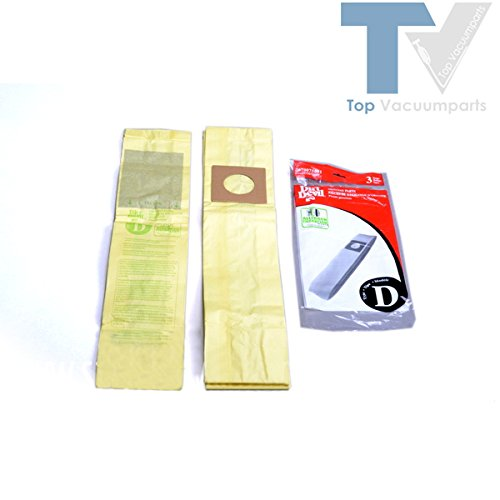 Dirt Devil Type D Vacuum Allergen Paper Bags Microfresh Upright 3Pk # 3670075001 front-558734