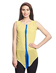 Madame Women's Body Blouse Shirt (M1418558_Yellow_Medium)