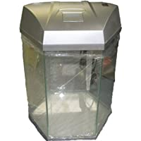 Fish R Fun Hexagonal Aquarium 21.6 Litre Silver