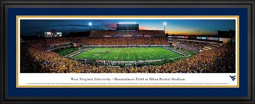 West Virginia Mountaineers - Milan Puskar Stadium - Framed Panoramic Photo