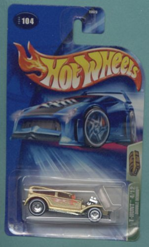 Mattel Hot Wheels 2004 Treasure Hunt 1:64 Scale Tan Double Demon 4/12 Die Cast Car #104 - 1