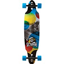 Sector 9 Drifter Complete Skateboard, Red, 9.2-Inch x 38.1-Inch