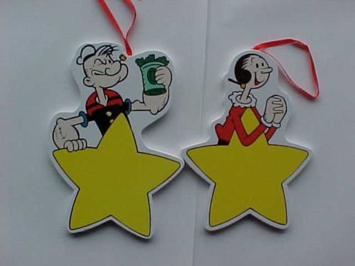 mgm-grand-popeye-and-olive-oyl-wooden-christmas-ornaments