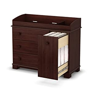 South Shore Furniture South Shore Precious Collection Changing Table Royal Cherry 1 Pack