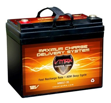 Vmax857 Agm Deep Cycle Group U1 Battery Replacement For Am 35Ah 12V 35Ah Wheelchair Battery