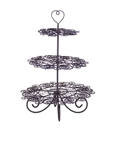 Home Essentials French Wire 3-Tiered Pedestal Pastry Stand