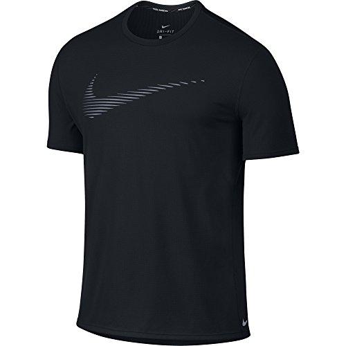 Men's Nike Dry Contour Running Top Black Size Medium