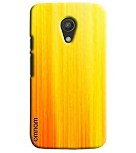 Omnam Yellow Lines Effect Printed Designer Back Cover Case For Moto G2