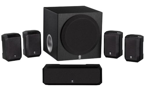 Yamaha 5.1-Channel Advanced Active Servo Technology Complete 6 Piece Home Theater Speaker Package - Designed For All Component Av Receivers, Cd Changers & Dvd Players