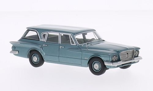 Plymouth Valiant Station Wagon, Metallic Turquoise, 1960, Model Car, Ready  Made, Bo S Models 1:43