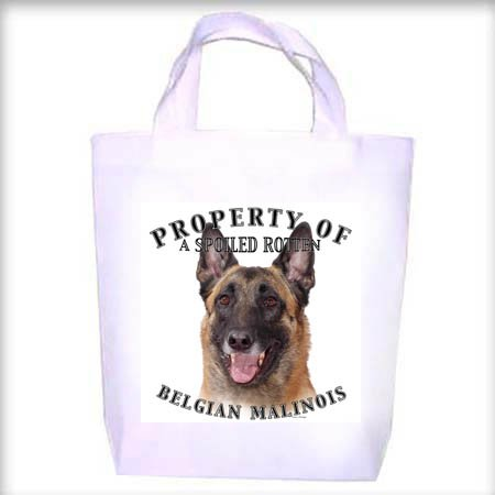 Belgian Malinois Property Shopping - Dog Toy - Tote Bag