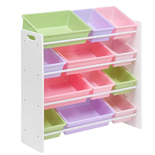 Honey-Can-Do SRT-01603 Kids Toy Organizer and Storage Bins, White/Pastel (Toy Storage Containers compare prices)