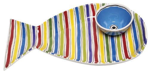 M. Bagwell Fish Chips and Dip Serving Platter