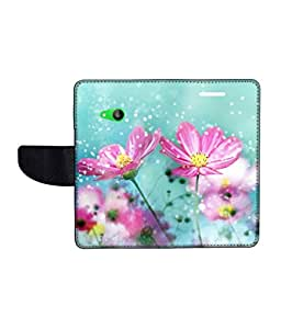 KolorEdge Printed Flip Cover For Microsoft Lumia 535 Multicolor - (50KeMlogo10211Lumia535)