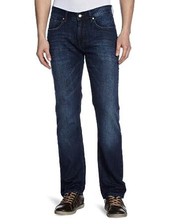 Strellson Premium Herren Straight Leg Jeanshose 1100360 - Sixton, Gr. W30/L32, Blau (722)