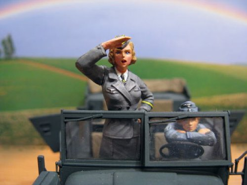 1/35 WWII ドイツ軍通信補助婦 ver.2 ミリタリーフィギュア ML13 ガレージキット