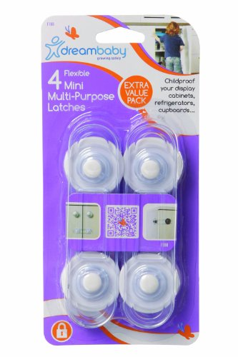 Dreambaby Mini Multi-Purpose Latch 4 Pack