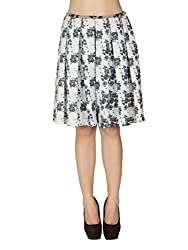 Soie Women's Pleated Skirt (SK-28PRINT_X-Large)