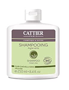 Cattier Shampooing Cheveux Gras Argile Verte 250 ml Lot de 2