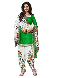 Look N Buy Women's parrot printed cotton Un-Stitched dress material